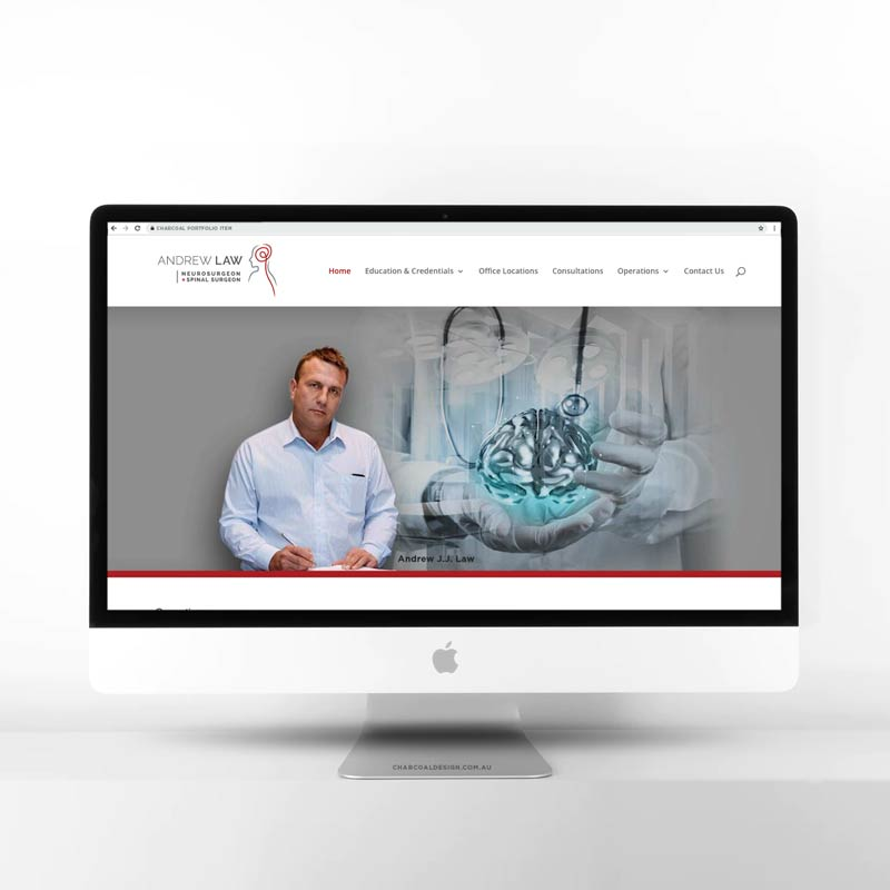 neurosurgeon web design