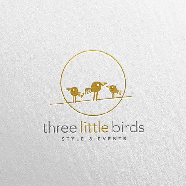 three little birds logo - brisbane logo design